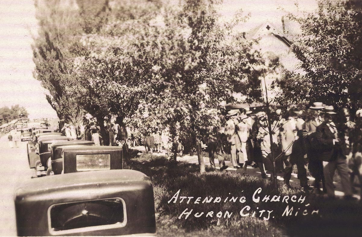 Attending Church in Huron City in the 1920s